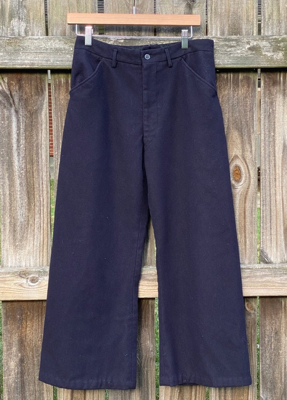 Vintage sailor pants - Vintage Navy Wool Pants - v