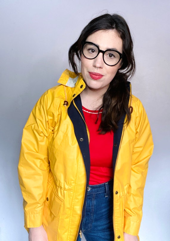 Vintage Yellow Rain Jacket - Yellow Rain Slicker -