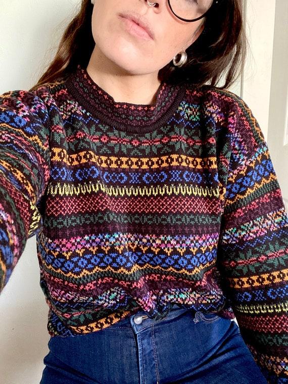 90s Coogi-Inspired Sweater - Wild 90s Sweater - Cr