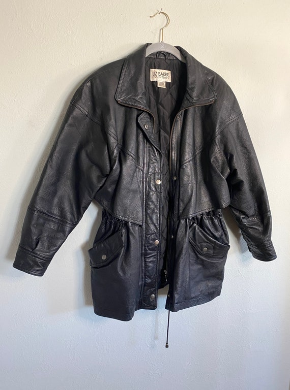 Vintage Leather Jacket - Black Leather Jacket - Le
