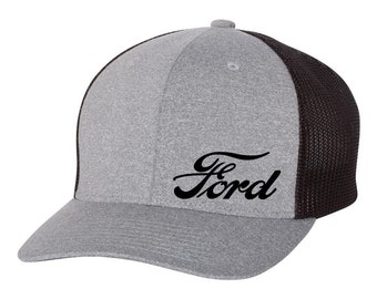 ac82ac1d3ab9e FORD Motor Trucker Flex Fit Hat   ROUND Bill      Free Shipping in BOX