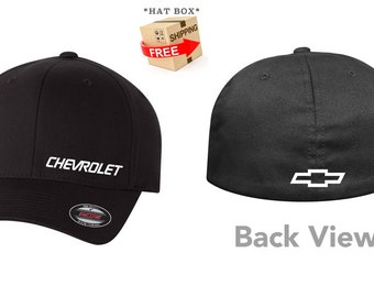 bd9246dad9e CHEVY Chevrolet Flex Fit Hat   CURVED Bill      Free Shipping in BOX