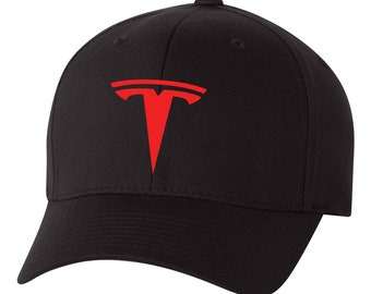 TESLA Auto Model 3 Model S Flex Fit Hat   CURVED Bill      Free Shipping in  BOX    5a44c227d61