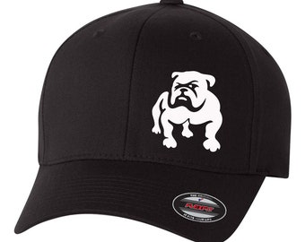 800046850ec3a Bulldog Dog Puppy Pet English French Boxer Flex Fit Hat   CURVED Bill  Free  Shipping in BOX