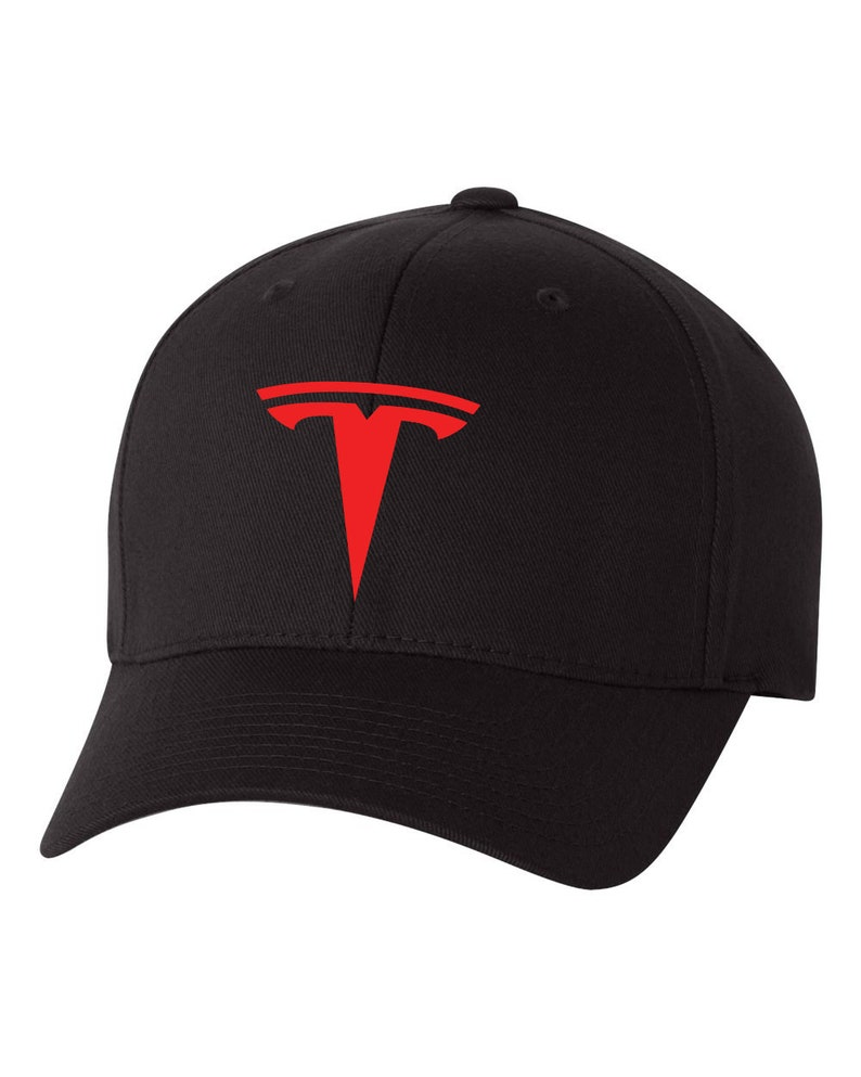 8ee57d43 TESLA Auto Model 3 Model S Flex Fit Hat CURVED Bill | Etsy