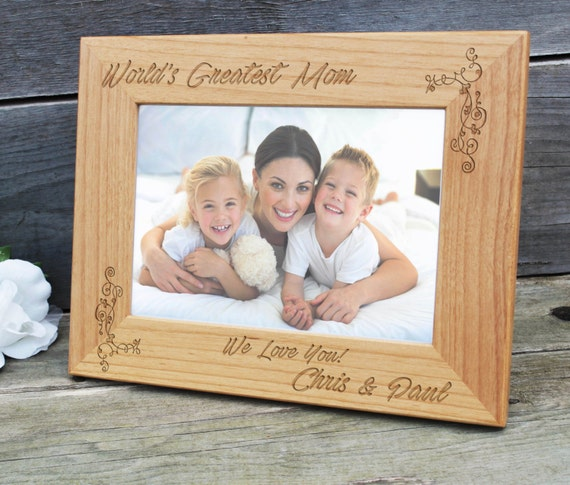 Happy Mothers Day Frame Mom Gift Rustic Frame Best Etsy