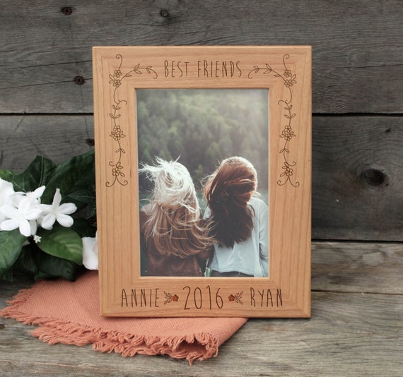 Personalize Best Friends Frame Wood Burned Picture Frame Etsy