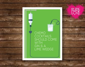 Funny Cancer Card, Cancer Card, Fuck Cancer Card, Just Because Card, Greeting Cards, Funny Chemotherapy Card