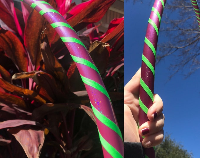 """Beginners Hoop Electra With Green Gaffer Tape  (HDPE, 3/4th in 32"""" OD)"""