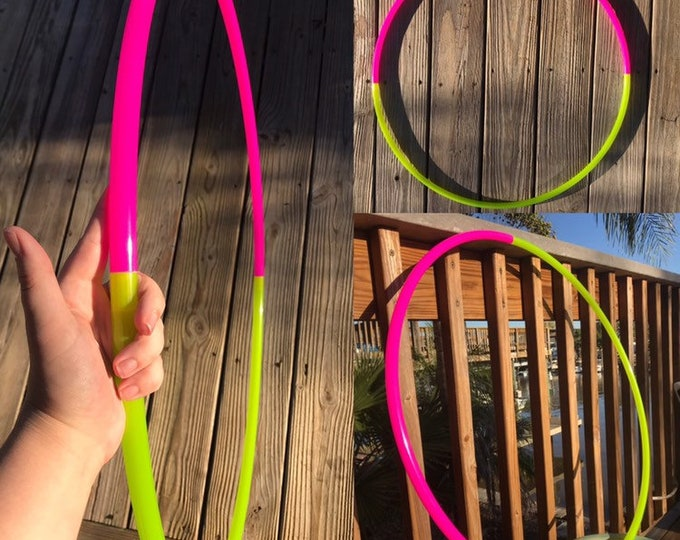 Nuclear Lemonade Glossy Two Toned Hula Hoop (Polypro, 5/8th)