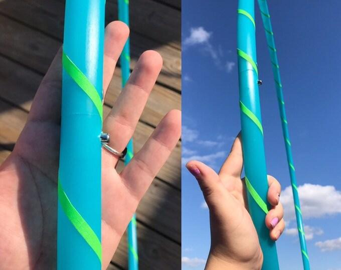 "Beginners Hoop UV Aqua Seaglass  (Polypro, 7/8th in 38""OD)"