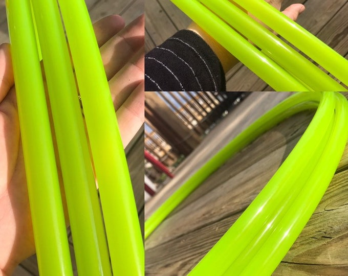 Highlighter Yellow Glossy Hula Hoop (Polypro, 5/8th)
