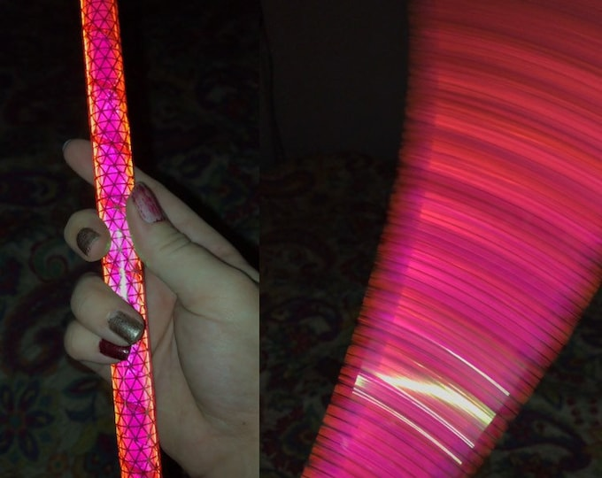 Nuclear Bubblegum Reflective Hula Hoop (Polypro, 5/8th and 3/4th)