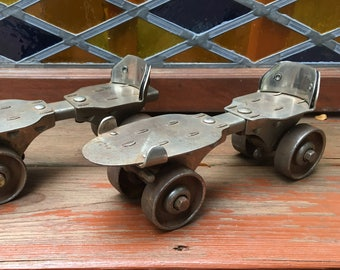 Vintage Metal Rollerskates Roller Derby Antique Skates Retro Roller Rink Roller Skates Vintage Decor Mid Century Roller Skate Sports