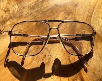 f8b1a3121983 1970s Metal Glasses Oversized Mens Gold Bifocal Big Wire Rim 70s Eyeglasses  Vintage Eye Glasses Napoleon Dynamite Retro Prop Nerd Costume