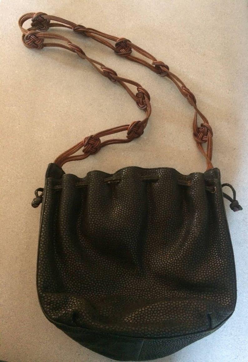 7fff4ddf6c Vintage Desmo Italian Leather Designer Handbag Shoulder Purse