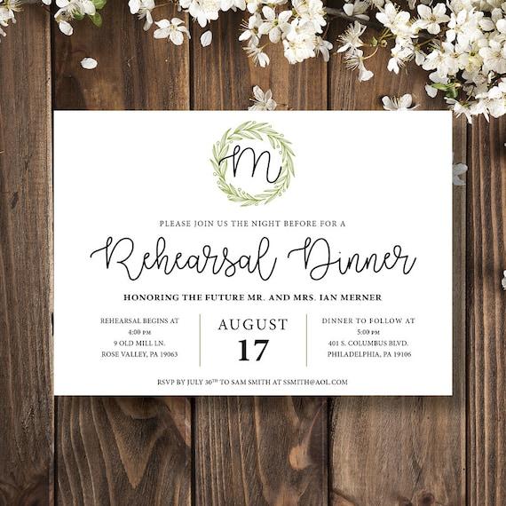 Wiederholungs-Abendessen-Einladung | Etsy