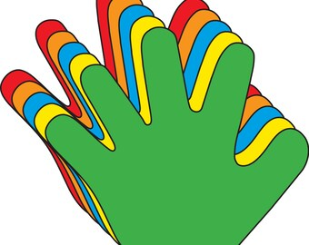 Hand Assorted Color Creative Cut-Outs