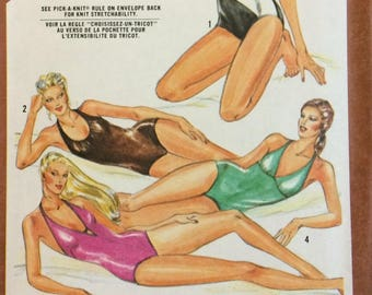 1980s Vintage Swimwear Sewing Patterns