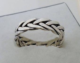 Christmas gift Celtic eternity ring,Popular ASGARD ring,Celtic braided knot ring,Viking jewelry,Celtic Jewelry,Vikings,rings, knot band.