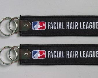 Facial Hair League Keychain