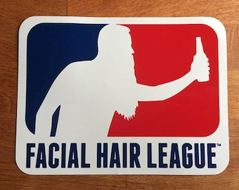 Facial Hair League Bumper Sticker