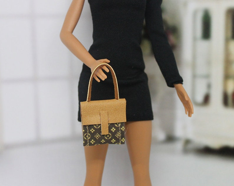 Fashion Royalty and other 16 scale dolls Barbie handmade designer inspired handbag for Barbie Blythe