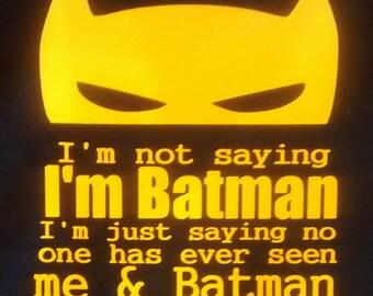 Batman onesie for babies / Batman toddler t-shirt - thin font - multiple color choices!
