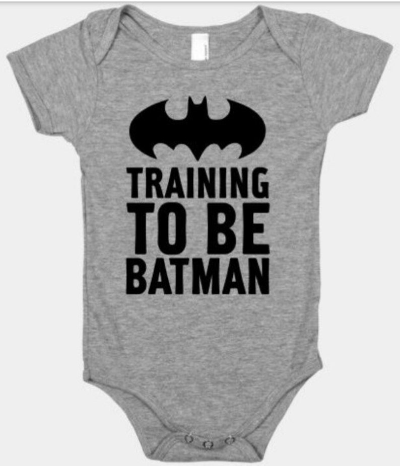 Training to be Batman - onesie color choices!