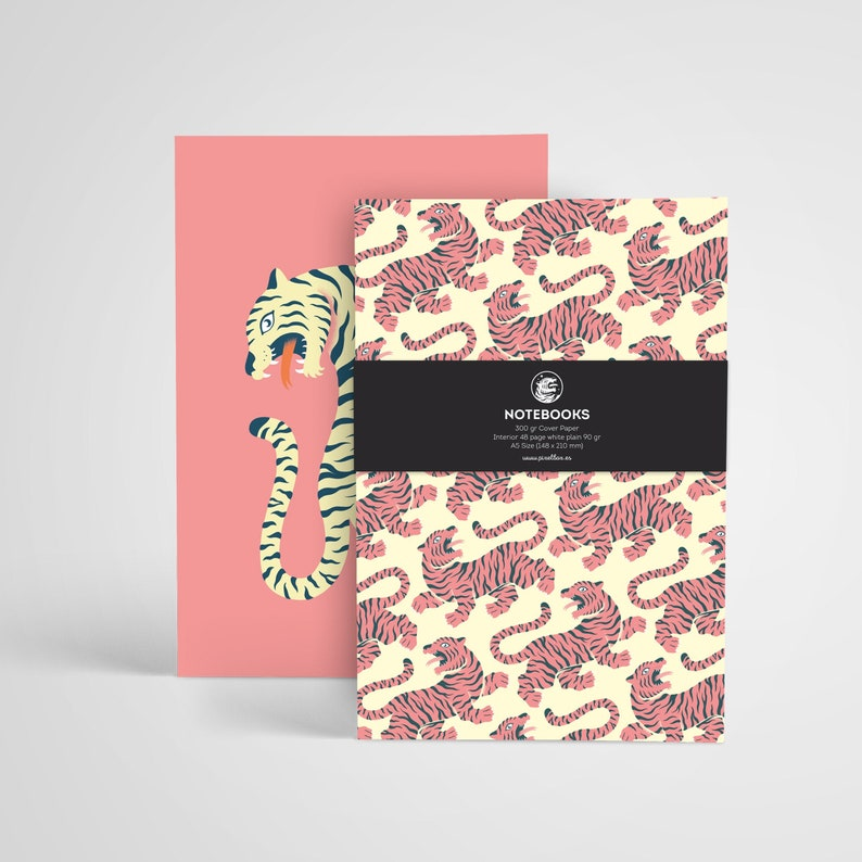 Notebooks Tigers PACK  Tiger Notebooks 48 pages white 48 Pack 2 Libretas