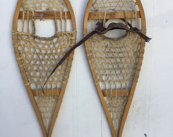 Vintage Wooden Snowshoes 42x12 in very good condition!!! #218