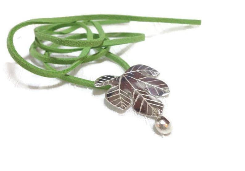 Sterling Silver Pendant leaf fig tree Scent of Fig image 0