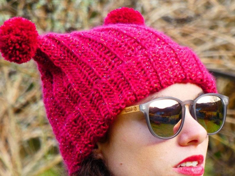 Red Beanie kawai beanie red winter hat ski beanie 2 image 0