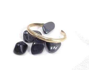 Brass bangle, golden bangle, minimalist bracelet, man bracelet, on measure bangle, plus size bangle, D shaped bangle, made in France jewelry