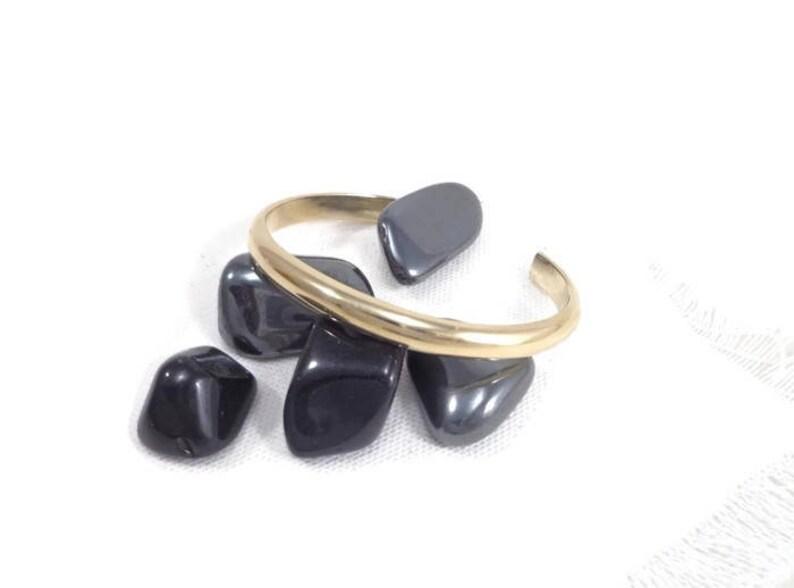 Brass bangle golden bangle minimalist bracelet man image 0