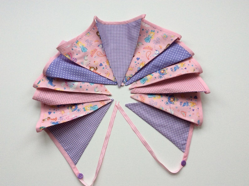 9e71328a5 Baby pink bunting girls party banner fairies princess