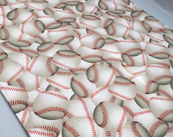 Baseball Table Runner or Accent Table Mat: Ideal for a Baseball Party, Softball Party or T Ball Party