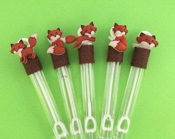 Fox Favor: Forest Animal Favor, Fox Bubble Favor, Fox Birthday Favor, Fox Baby Shower. Little Fox Favor