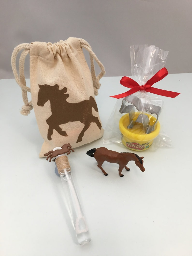 Horse Party Favor: Horse Party Bag filled with Play Doh and image 0