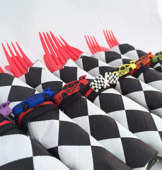 Race Car Party Flatware Racing Car Theme Party Cutlery