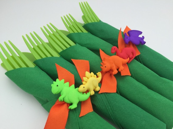 Dinosaur Flatware Dinosaur Party Cutlery and Napkin Set Dinosaur Theme Party Tableware Dinosaur Party Supplies from MadHatterPartyBox on Etsy Studio & Dinosaur Flatware Dinosaur Party Cutlery and Napkin Set Dinosaur ...