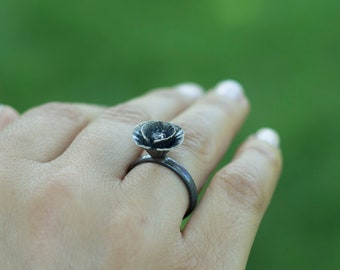 Poppy Ring / Sterling Silver