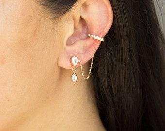 Single Ear Cuff / Sterling Silver