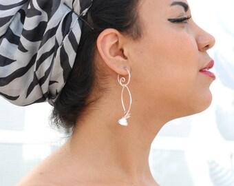 Big Earrings / Poppy Earrings / Sterling Silver