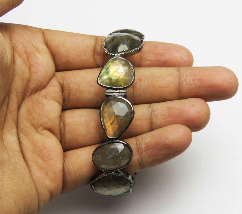 Labradorite Bangle Labradorite Bracelet 31 Gm Labradorite Bangle Bracelet Gemstone Bangle