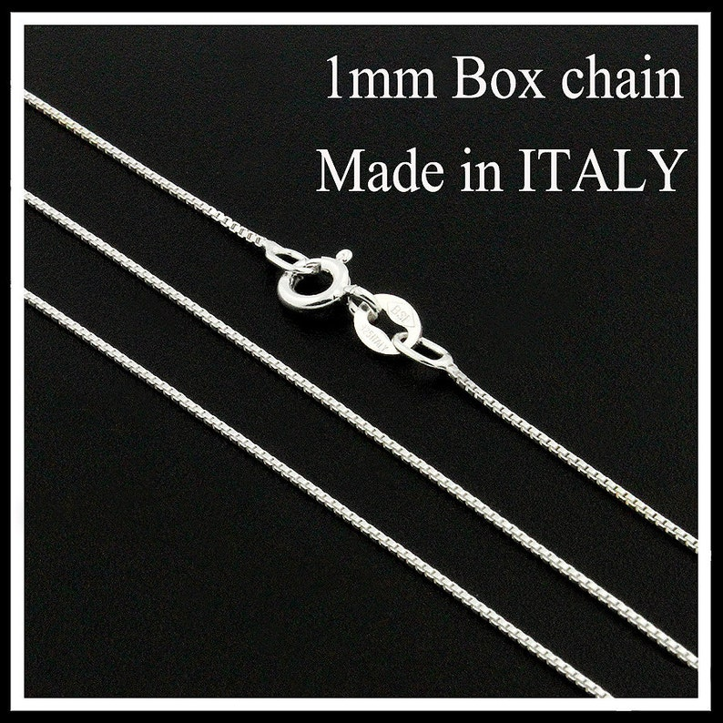 619a84097c7 Sterling silver Box chain 1 mm thickness Italian box chain | Etsy