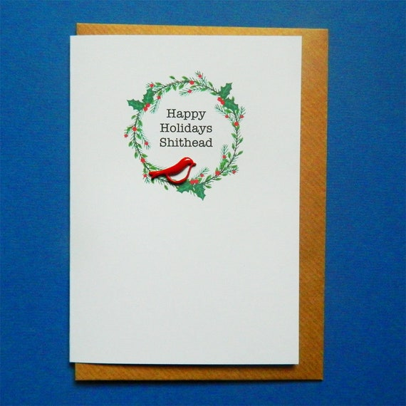 Funny christmas cards for boss idea gallery happy holidays shthead funny rude christmas card friend boss m4hsunfo