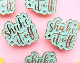 SECONDS - shake it off & just start enamel pins, hard enamel, brooche, enamel pins, pin badge, second pins, b grade, little lefty lou,