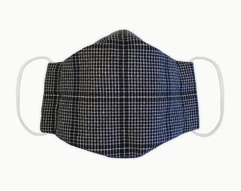 Chic stylish high quality sewn cloth maks with nose wire and filter compartment