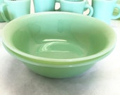 2pcs Jane Ray Fire King Jadeite Serving Bowls Anchor Hocking Anchorglass Green Dinnerware Over Vegetable Dish